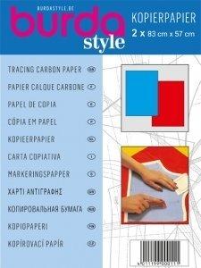 Burda Tracing-Carta carbone blu, 1 x rosso, taglia unica