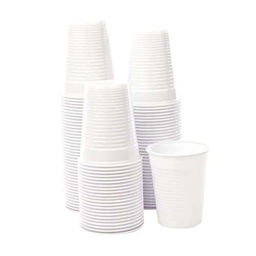 Bicchieri monouso plastica bianchi 200cc acqua bibite usa e getta 15X100 pz 2