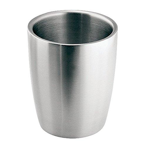 InterDesign Forma Bicchiere portaspazzolino | Bicchiere bagno dal design moderno | pratico Accessorio bagno di alta qualità | Acciaio spazzolato