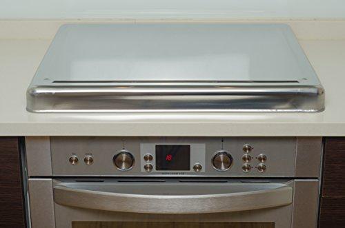 Jocca 6414- Copri piano cottura in acciaio INOX, 60.5 x 52.5 x 5.5 cm, Argento 4