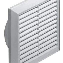 Griglia di aerazione e protezione dagli insetti, diametro 125 mm, modello T83, in plastica ABS, colore: bianco