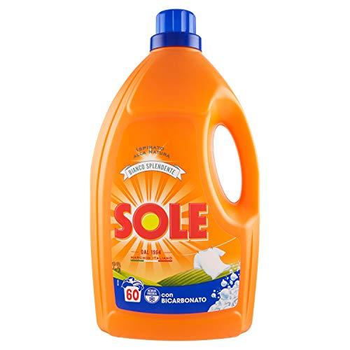Sole Bianco Splendente Detersivo Lavatrice Liquido – 3 l, 60 Lavaggi