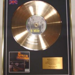 Eminem/CD Gold Disc Record Limited Edition/8 Mile 2