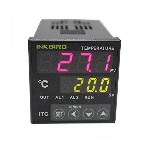 Uscita Inkbird Dual Digital Temperature Controller Termostato Termometri per Termocoppia PID Temperature Controller Relè ITC-100RH 220 V