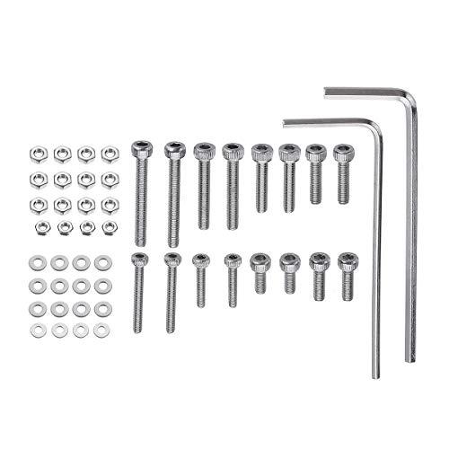 Kit di montaggio universale per cartucce, bulloni, dadi, accessori, 50 pezzi