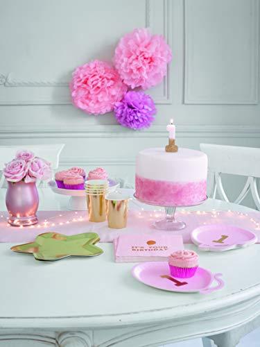 Talking Tables We Heart Compleanni Glitter Candela Numero 2, Carta, Multicolore, 2x 5.2x 13.8cm 3