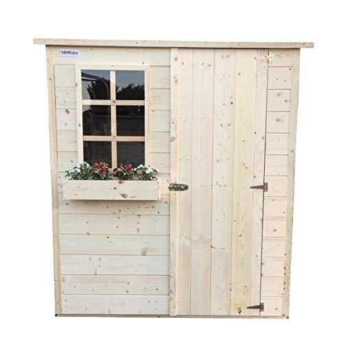 Home Idea Italia Casetta in legno da 20 mm 173 x 160 cm con 1 porta e 1 finestra fissa 2