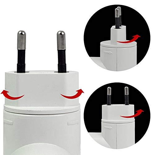 Portalampada E27 con Adattatore e Spina EU, Spina Girevole 360°con Interruttore On/Off, per Lampade da Tavolo, Luce Notturna, Lampada Smart LED, Faretti a Parete, set di 2 (senza lampadina) 9