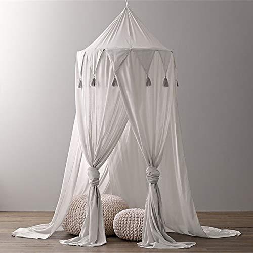 Borje Baldacchino da letto per bambini, zanzariera a tenda per letto, cupola rotonda decorazione camera – altezza 240cm