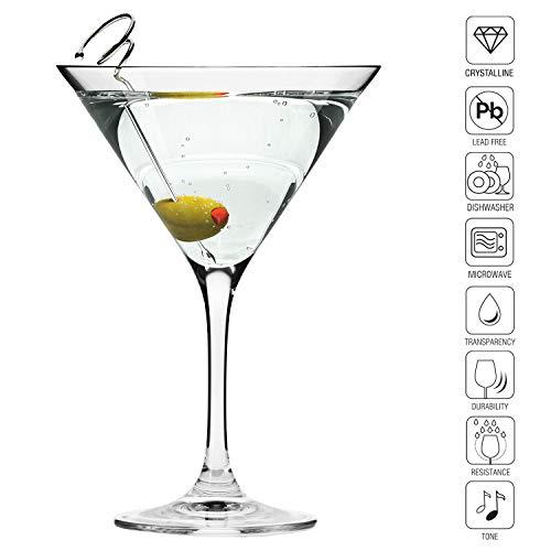Krosno Bicchieri Cocktail Martini Bar Vetro Coppa   Set di 6   150 ML   Elite Collection   Ideale per la casa, Ristorante Feste e Ricevimenti   Adatto alla Lavastoviglie e Forno a Microonde 4