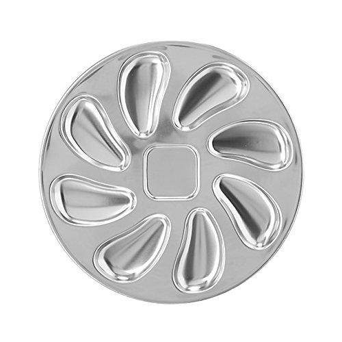 Piatto per ostriche/Frutti di mare in acciaio inox diam 25cm