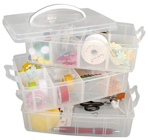 mDesign Organizer per Gioielli e Accessori – Scatola Porta Gioielli con 3 cassetti per Orecchini, collane, Anelli e bracciali – Piccolo portagioie in plastica