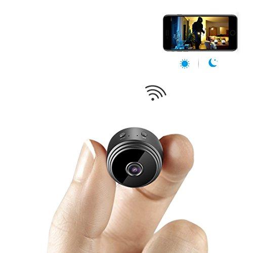 Mini Microcamere Spia AOBO 1080P HD Bottone Nascosta Telecamera WiFi IP Wireless Rilevamento di Movimento Portatile Videocamera di Sorveglianza Video Registrazione in Loop per iPhone Android
