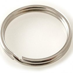 Portachiavi Anelli in acciaio nichelato varie misure (5 – 70 mm) Stabile, singolarmente fino a confezione Bulk, Argento, 10 mm