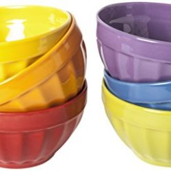 Excelsa Rainbow Set Scodelle, Ceramica, Multicolore, 6 unità