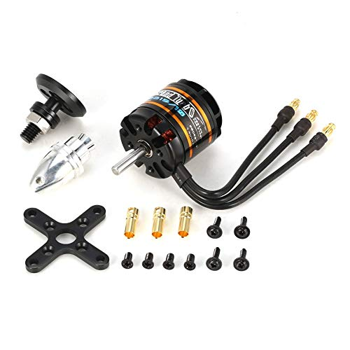 KNOSSOS Emax Gt2215/10 1100Kv 2-3S Lightweight Power Brushless Motor for Rc Fixed Wing Black