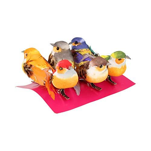 Artemio – Decorazione a Forma di Uccellino, con Clip a Molla, Misura Piccola, Multicolore, 6 pz