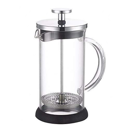 ALIXIN-10022 Caffettiera con Pressa Francese,Filtro Pressa a Stantuffo a Rete Micro per Caffè Espresso o tè,Bollitore in Vetro Borosilicato Per Caffè Forte e Caffè con Bonus.?600ML? 2