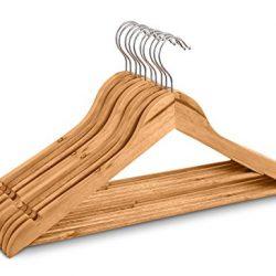 Highliving Confezione da 20grucce Appendiabiti, in Legno, per Tute, Pantaloni e Indumenti 2