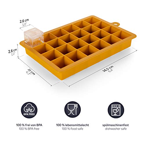 Blumtal 2 Stampi per Cubetti Ghiaccio – in Silicone, Vaschette da 16,5 x 11 x 2,6 cm 3
