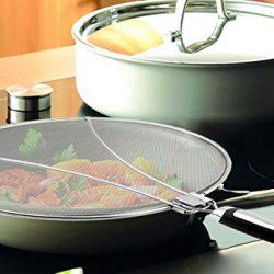 Prosperveil anti Splatter Shield Guard cucina cottura fornello padella olio paraspruzzi per copertura 84,5x 3,7x 0,8cm 2