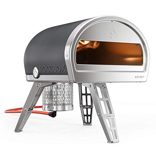 ROCCBOX Forno per Pizza Portatile e Esterno – Forno per Pizza Esterno a Gas o a Legna, Dual-Fuel, Fuoco e Pietra