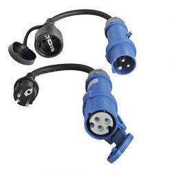 ViD® 2X, cavo adattatore CEE 0,3 m, 230 V, 16 A, 3 poli, colore: nero Produktname