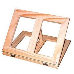 Fancyus, supporto regolabile in legno per ricettario o libri