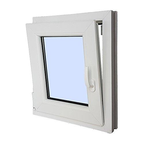 Ventanastock – Finestra singola in PVC, apertura lato sinistro, sistema anta-ribalta, con vetro Carglass, dim.: 500×600