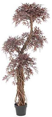Vert Lifestyle qualità Artificiale Rossa Giapponese fruticosa Albero, Replica Interni Esterni Ufficio Topiary Albero Plant – 165 Centimetri Alto