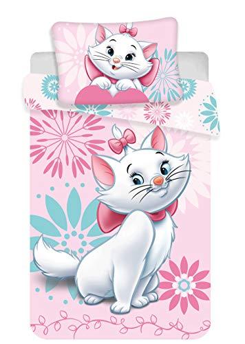 Marie Cat – Biancheria da letto per neonato, 100 x 135 cm, colore: rosa