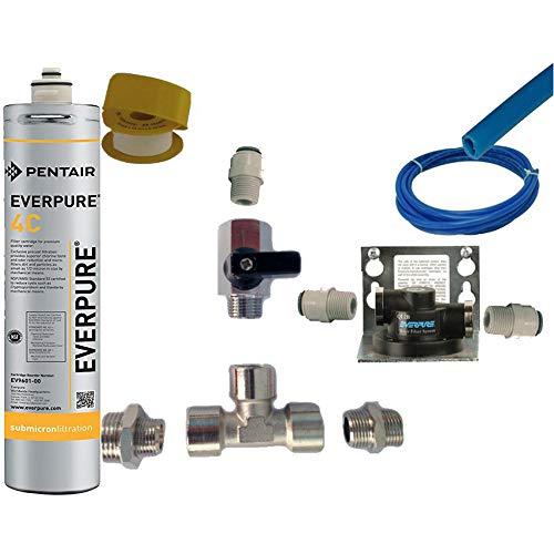 Everpure Kit Installazione Sottolavello con Testata Ql2b e Filtro 4C 2