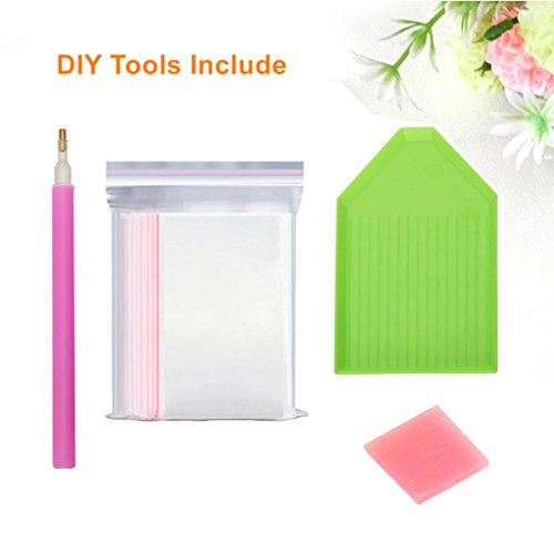 5D Diamond Painting kit completo drill DIY strass ricamo a punto croce Craft Arts for home Wall Decor Colorful Lotus 30x 40cm,pittura diamante diy 5