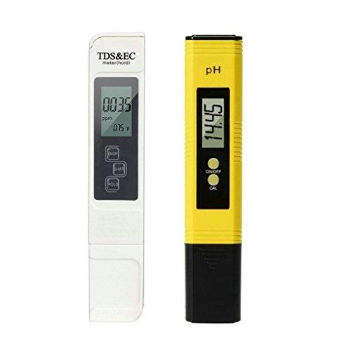GuDoQi Tester di qualità dell'Acqua Misuratore PH Test Digitale 4 in 1 Tester Tds Misurazione Temperatura PH per Acqua Potabile per Uso Domestico Acquari Idroponici Piscine