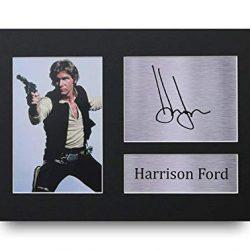 HWC Trading Harrison Ford A4 Senza Cornice Firmato Regalo Visualizzazione delle Foto Print Immagine Autografo Stampato per Star Wars Gli Appassionati di Cinema