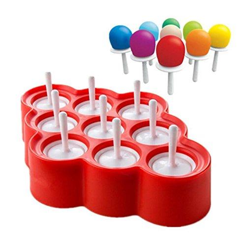 Stampi Ghiaccioli / Stampi per Gelati Realizzati in Plastica di Alta Qualità Priva di BPA , Ideale per la Preparazione di Ghiaccioli, Gelati, Sorbetti ecc, i Vostri Bambini li Adoreranno