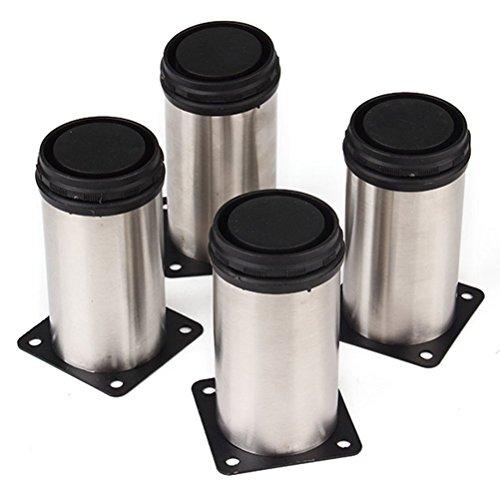 In acciaio inossidabile WINOMO piedini regolabili gambe mobili cucina completano 4 pezzi (argento) 2