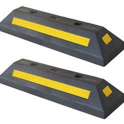 SNS SAFETY LTD Fermaruota in Plastica per Parcheggi e Garages, Nero, 53 x 15 x 9,5 cm (Pacco da 2)