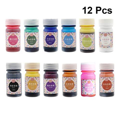 Healifty set di tinture in resina epossidica 12 colori 10 ml pigmento liquido fai da te gioielli artigianali fabbricazione stampo gemma tempo mestiere in resina