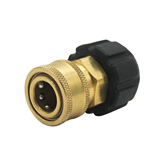 Futureyun 3/20,3cm Quick Connect NPT a M2214mm metrica Raccordo Tubo e Pistola per idropulitrice ad Alta Pressione, TWIS285