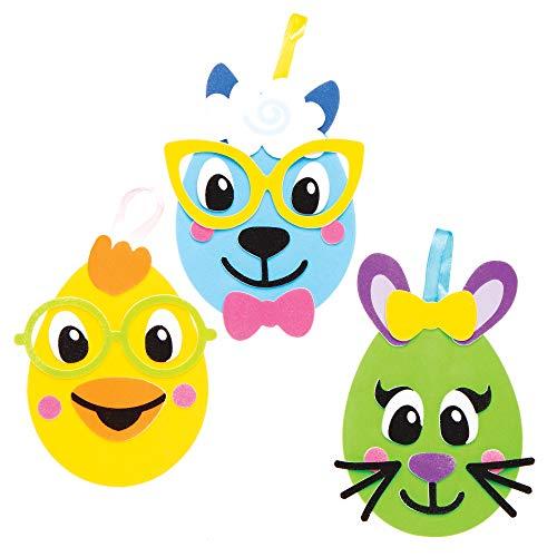 Kit Uova di Pasqua Facce Divertenti Baker Ross (confezione da 8) – Novità Giocattoli per bambini, regalini per feste, bottino o premi 3