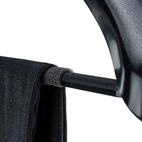 HANGERWORLD 10 Grucce Extra Large 50cm in Plastica Nera con Spalline Larghe 5cm e Barra per Pantaloni 7