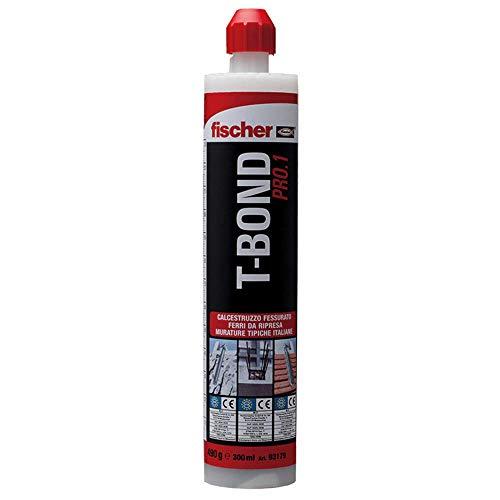 Fischer 2999370 T-BOND Resina poliestere no-stirene per fissaggi, 300 ml