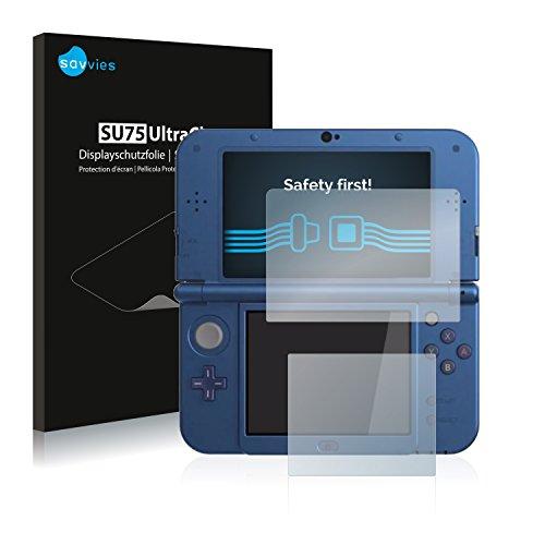 savvies 18-Pezzi Pellicola Protettiva Compatibile con Nintendo New 3DS XL Protezione Schermo Trasparente