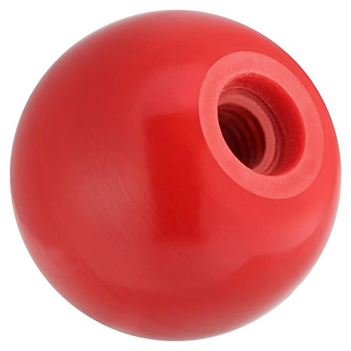 Manopola a sfera, Manopola a sfera in plastica con impugnatura a sfera tonda universale, colore nero/rosso, 10 pezzi(AM8*25-Red AM8*25)