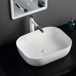Lavabo da Appoggio Lavandino Bagno Lavabo in ceramica lavandino lavabi bianca ovale 46×33