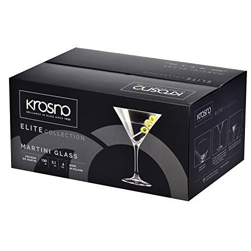 Krosno Bicchieri Cocktail Martini Bar Vetro Coppa   Set di 6   150 ML   Elite Collection   Ideale per la casa, Ristorante Feste e Ricevimenti   Adatto alla Lavastoviglie e Forno a Microonde 5