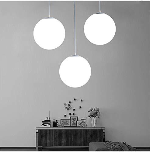 Lampadario con sfera di vetro, Lampada a sospensione, Lampada interna singola per Camera da letto, Soggiorno, Corridoio, Ristorante, Bar 1pcs (25CM) 8