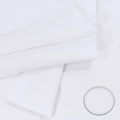 Lenzuolo Telo Panno per la casa Tovaglia bianca, Dimensioni 150 x 250 cm in 100% cotone 4