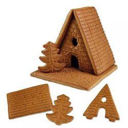 Kit di cottura per biscotti festivo Gingerbread House, Babbo Natale, slitta e albero